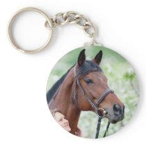Custom Horse Photo Keychain