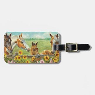 Custom Horses Luggage Tag
