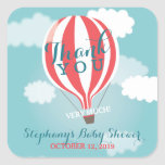 Custom Hot Air Balloon Thank You Stickers