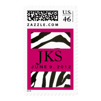 Custom Hot pink and zebra design Stamps