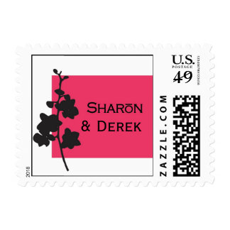 custom hot pink stamps