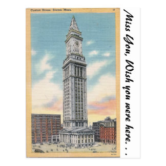 Custom House, Boston, Mass. Postcard