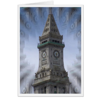 Custom House Clock Tower Stationery Note Card