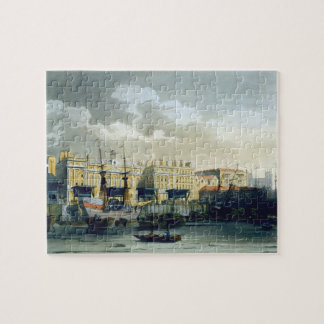 Custom House from the River Thames, from Ackermann Jigsaw Puzzle