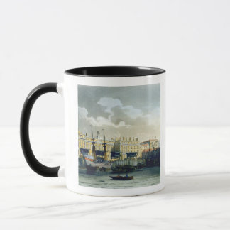 Custom House from the River Thames, from Ackermann Mug