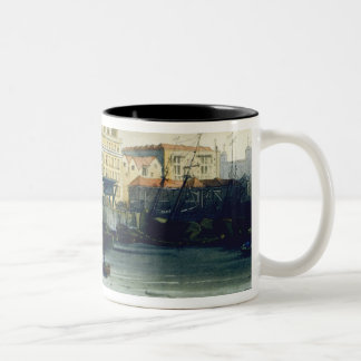 Custom House from the River Thames, from Ackermann Two-Tone Coffee Mug