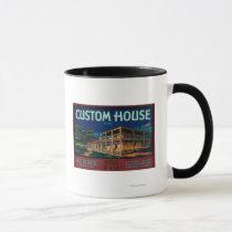 Custom House Pear Crate LabelMonterey, CA Mug