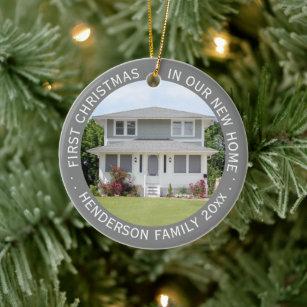 Octonaut Christmas.Custom House Photo First Xmas New Home Family Name Ceramic Ornament
