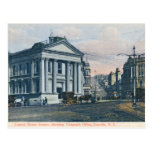 Custom House Square, New Zealand vintage postcard