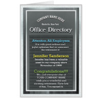 Custom Huge Retirement Card Office Directory