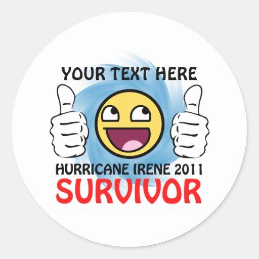 Custom Hurricane Irene 2011 Survivor Sticker