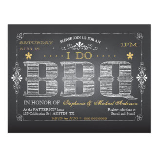 CUSTOM I Do BBQ Postcard