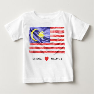 Custom I Heart Flag of Malaysia Baby T-Shirt