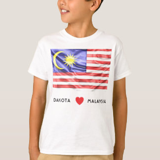 Custom I Heart Flag of Malaysia T-Shirt
