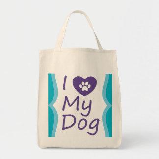 """Custom """"I Heart My Dog"""" Grocery Tote"""
