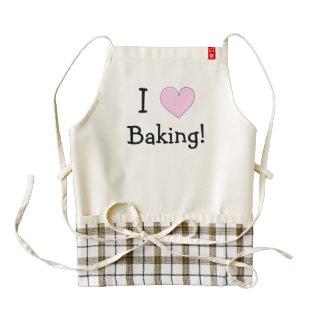 Custom I Love Baking Heart Apron