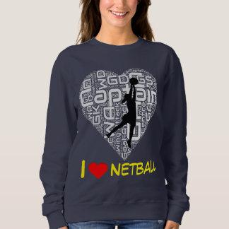 Custom I Love Heart Netball Jumper Sweatshirt
