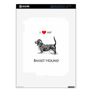 Custom I Love My Basset Hound Dog iPad 3 Skin