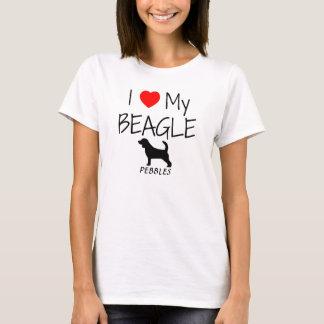 Custom I Love My Beagle T-Shirt