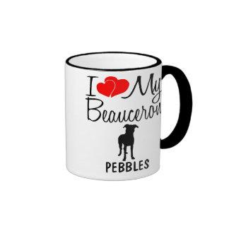 Custom I Love My Beauceron Ringer Mug