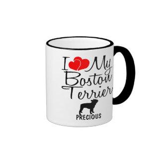 Custom I Love My Boston Terrier Mug
