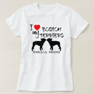 Custom I Love My Boston Terriers T-Shirt