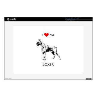 Custom I Love My Boxer Dog Heart Laptop Decals