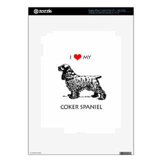 Custom I Love My Cocker Spaniel Dog Decal For iPad 3