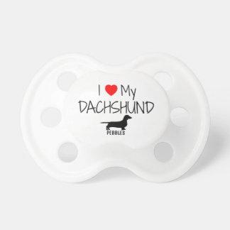 Custom I Love My Dachshund Pacifier