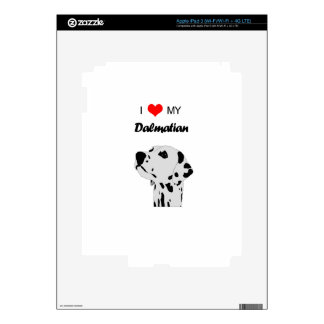 Custom I Love My Dalmatian Dog Heart iPad 3 Decals