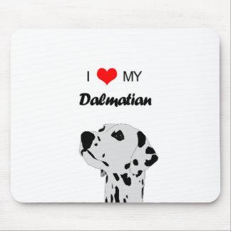 Custom I Love My Dalmatian Dog Heart Mouse Pad