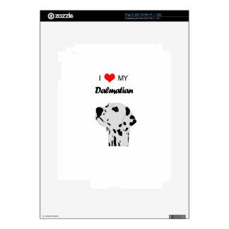 Custom I Love My Dalmatian Dog Heart Skin For iPad 2