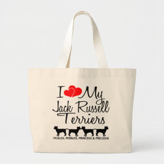 Custom I Love My Four Jack Russell Terriers Bag