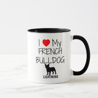 Custom I Love My French Bulldog Mug