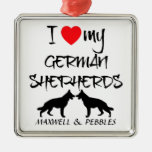 Custom I Love My German Shepherd Christmas Ornaments