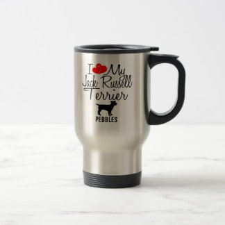 Custom I Love My Jack Russell Terrier Mug