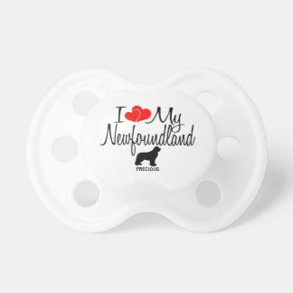 Custom I Love My Newfoundland Pacifier