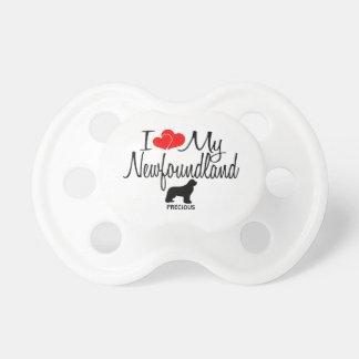 Custom I Love My Newfoundland Baby Pacifier