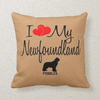 Custom I Love My Newfoundland Throw Pillows