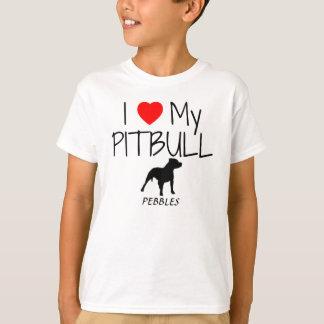 Custom I Love My Pitbull T-Shirt