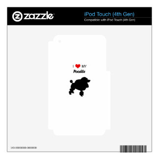Custom I Love my Poodle Dog Decal For iPod Touch 4G