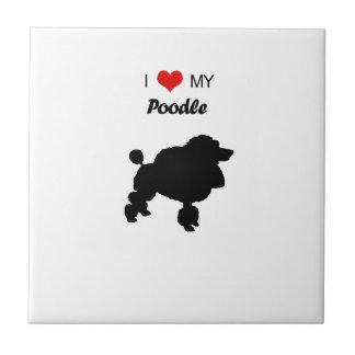 Custom I Love my Poodle Dog Tile