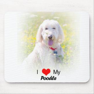 Custom I Love My Poodle Mouse pad