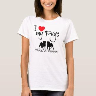 Custom I Love My Pugs T-Shirt