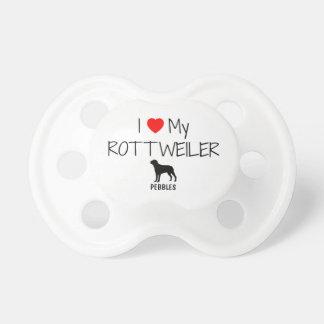 Custom I Love My Rottweiler Pacifier