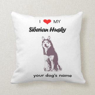 Custom I love my Siberian Husky pillow