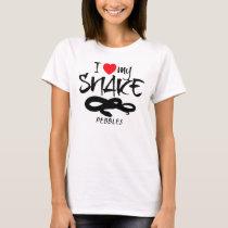 Custom I Love My Snake T-Shirt
