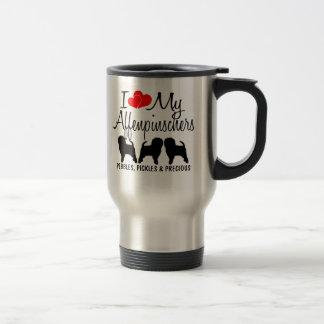 Custom I Love My Three Affenpinschers 15 Oz Stainless Steel Travel Mug