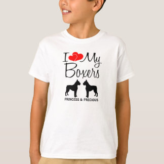 Custom I Love My Two Boxers T-Shirt