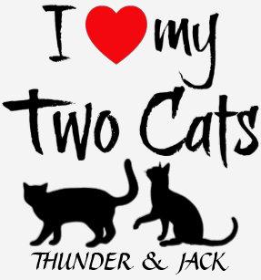 Custom I Love My Two Cats T Shirt